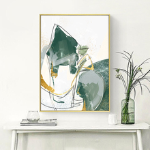 Abstract Canvas Painting Poster Print Wall Art Nordic Green Gold Lines Picture for Living Room Bedroom Decoration Home Decor abstract canvas painting poster print wall art nordic green gold lines picture for living room bedroom decoration home decor