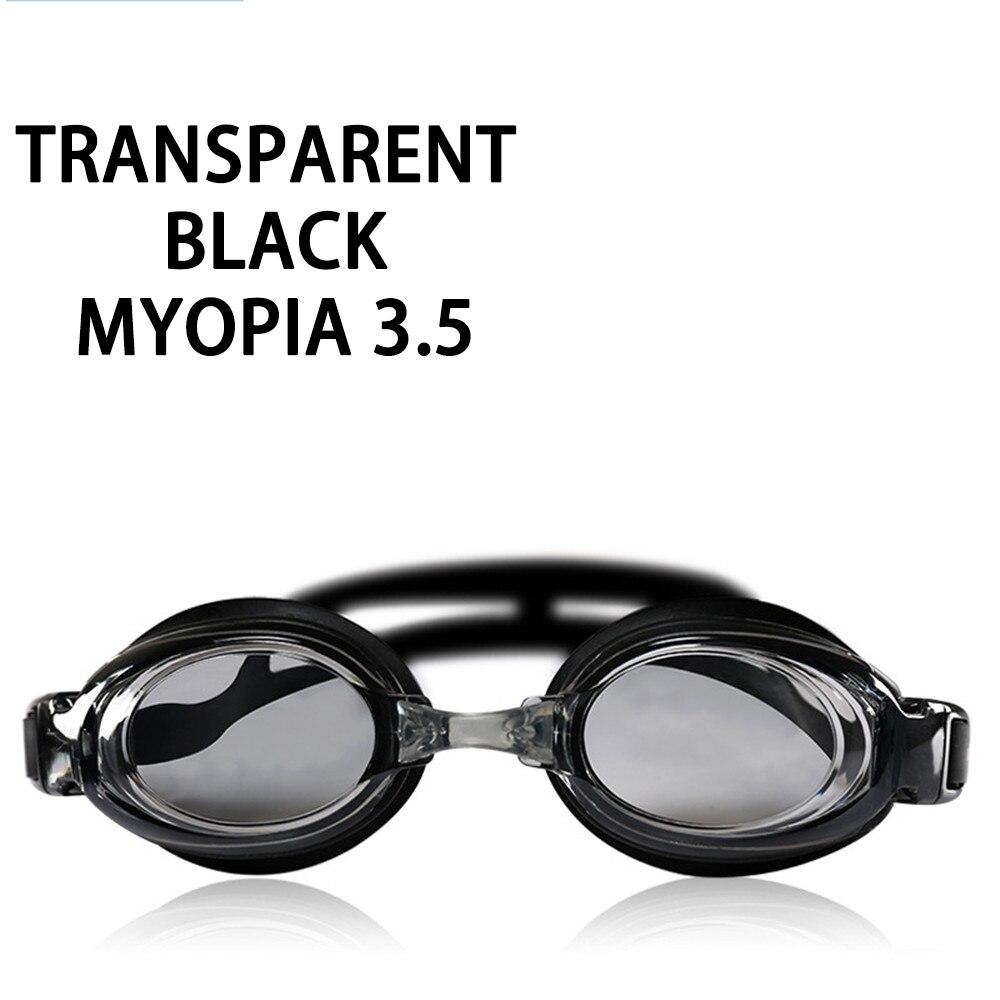 Оптическая близорукость плавательные очки 200-800 градусов Силиконовые противотуманные водная диоптрия плавательные очки для мужчин и женщин очки по рецепту - Цвет: Myopia 350