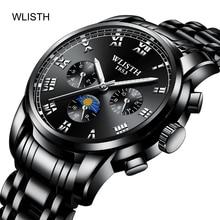 цена на Men Watch Steel Band Business Waterproof Watch Men Fashion Luminous Watch Quartz Watch