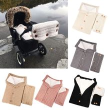 2PCS Baby Fleece Blanket Swaddle with Stroller Hand Muff Hands Warmer Sleepsacks 19QF