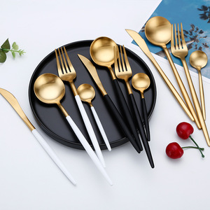 Image 3 - Hot Sale Dinner Set Cutlery Knives Forks Spoons Wester Kitchen Dinnerware Stainless Steel Home Party Tableware Set