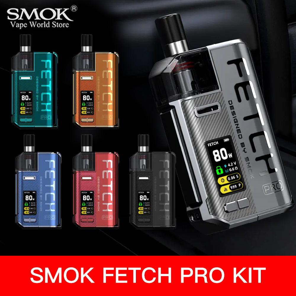 Vape SMOK Fetch Pro Kit With 4.3ml POD Cigarette Electronique RPM Coil Box Mod 80W Sigaretta Elettronica Mesh Vaporizer  S6108