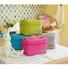 Petit sac isotherme en Nylon pour femmes, 4 couleurs, Portable, étanche, boîte à déjeuner, loisirs pique-nique, Bento, sac thermique