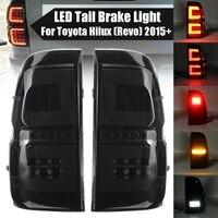 Led Taillights For Toyota Hilux Revo SR5 M70 2015 2018 Pickup Car Brake Lamp Modified High Brightness Styling Fog Lamp Side Drl