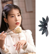 Korean TV Drama New Hairpin Vintage Flower Rhinestone Clip Female Daily Vacation Hair Accessories