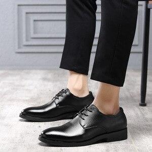 Image 5 - IMAXANNA גברים נעלי יוקרה מותג אמיתי עור עסקי שמלת חתונת נעלי גבר קלאסי עור נעלי נעליים בתוספת גודל 38  47