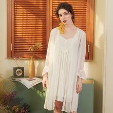 Женская одежда для сна wateheart белая розовая кружевная длинная