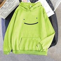 Frauen Männer Lächeln Gesicht Hoodies 2021 Herbst Casual Traum Merch Mit Kapuze Pullover Mode Harajuku Übergroßen Streetwear Sweatshirts