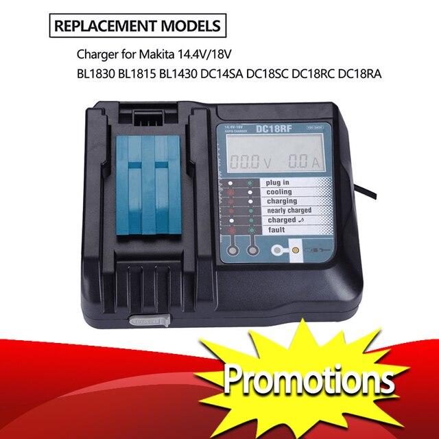 14.4V 18V Li Ion Battery Charger Voltage Current Lcd Digital Display For Makita Dc18Rf Bl1830 Bl1815 Bl1430 Dc14Sa Dc18Sc Dc18