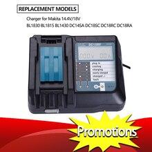 14.4V 18V Li Ionแบตเตอรี่Chargerแรงดันไฟฟ้าLcdดิจิตอลสำหรับMakita Dc18Rf Bl1830 Bl1815 Bl1430 Dc14Sa Dc18Sc dc18