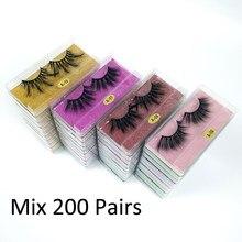 25mm vison cílios granel atacado 50/100/200 pares faixa grossa 25mm vison cílios conjunto maquiagem dramática longo cílios postiços pacote