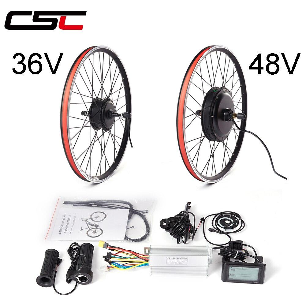 Европейский запас Электрический велосипед конверсионный Комплект 36 в 48 в 250 Вт 350 Вт 500 Вт 1000 Вт 1500 Вт 26 дюймов e-велосипед задний колесный бес...