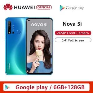 Оригинальный huawei Nova 5i 6 ГБ 8 ГБ 128 Гб Смартфон 24 МП камера s 24 МП фронтальная камера 6,4 ''полный экран Kirin 710F Android 9