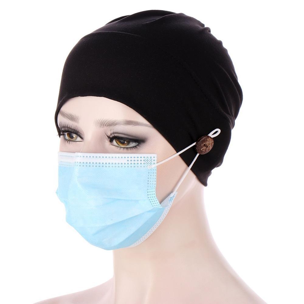 2020 многоцветный мусульманский тюрбан шапка для Женская мода кнопки Джерси внутренняя шапочки под хиджаб Укутайте голову хиджабы-шарфы кап...