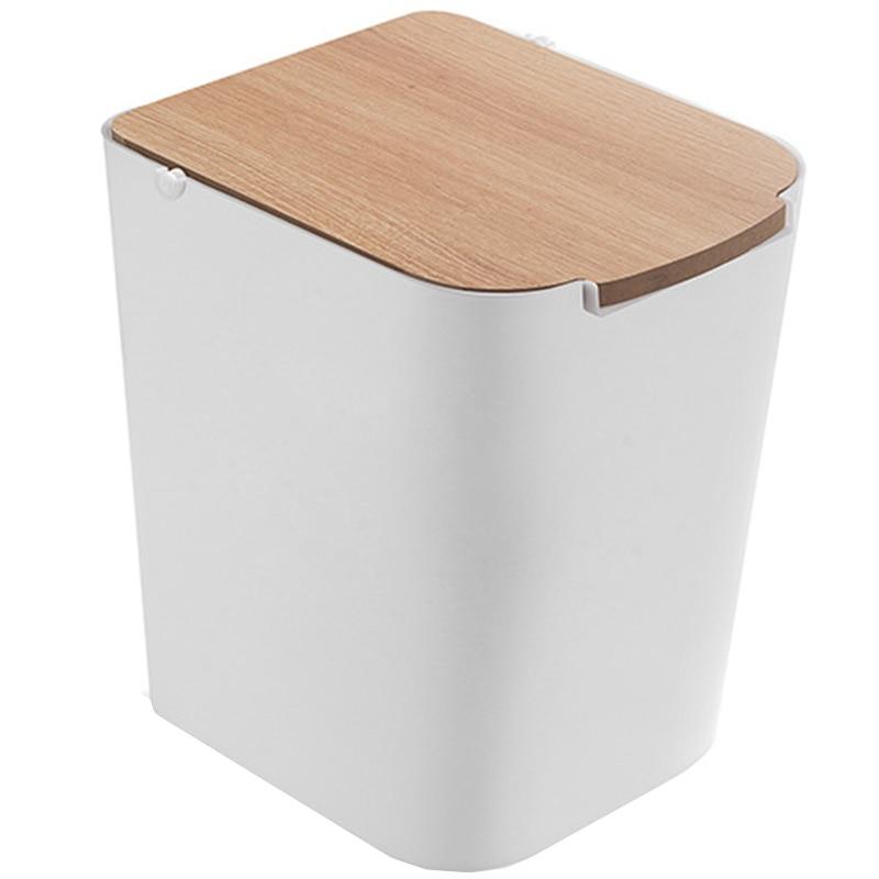 Newest Environmental Trash Can Household Trash Can Press Storage Bin With Lid Trash Can Kitchen Bathroom Trash Can White Waste Bins Aliexpress