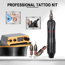 Complete Tattoo Machine Set Professional Rotary Tattoo Pen Kit Cartridge Needles Tattoo Gun For Eyebrow Tattoo Body Artist