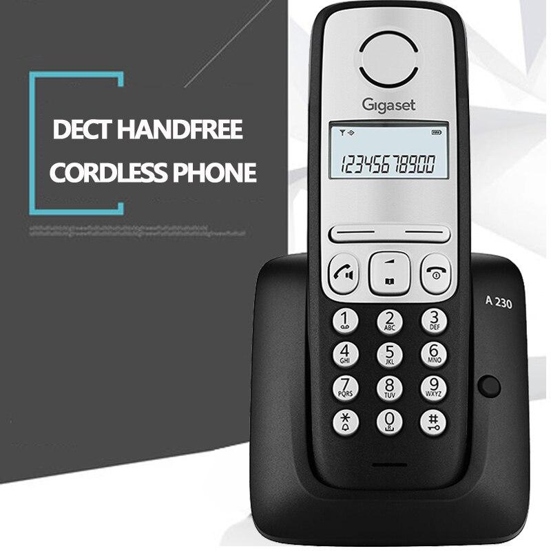 Teléfono inalámbrico DECT, manos libres, conversación, teléfono inalámbrico con identificador de llamada, rellamada para casa y oficina