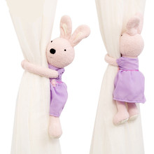 1Pcs Magnetic Rabbit Curtain Tiebacks Straps Accessories Childrens Room Cute Buckle Holder Clips Rope 2 orders