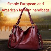Fashion Women Leather Tassel Shoulder Bag Tote Purse Top handle Bags Satchel Crossbody Messenger Handbag F42A