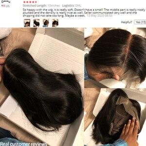 Image 5 - Peluca de corte Pixie Bob con encaje frontal pelucas de cabello humano prearrancado 6x6 cierre peluca 13x4 recta Bob pelucas de cabello humano corto pelucas de cabello humano 130 Remy