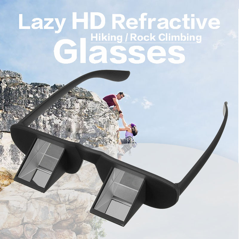 Lazy Refractive Glasses Outdoor Refractive Goggles Reading Climbing Hiking Spectacles Non-slip Belay Glasses Black
