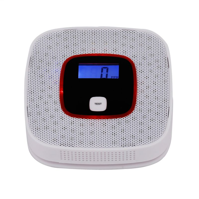 Sensitive Home CO Sensor Detector Wireless CO Carbon Monoxide Poisoning Smoke Gas Sensor Warning Alarm Detector LCD Indicator