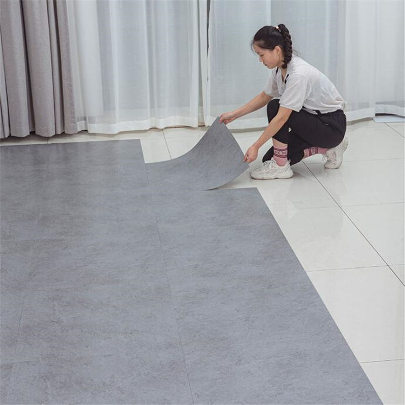 PVC Floor Stickers Self-adhesive Plastic Floor Leather Thick Wear-resistant Anti-cement Floor Household Floor Tile Ins Net Red