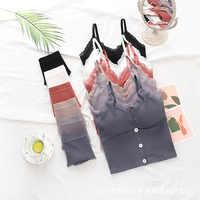 SALSPOR-Conjunto de ropa interior de encaje para mujer, Top corto de color liso, sujetador sin aros con relleno de Patrón En Espiral, conjuntos de ropa interior suave de realce