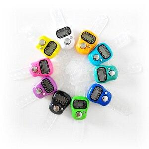 Image 2 - عداد الاصبع للمسلمين المحمول المصغر LCD الإلكترونية الرقمية لعبة غولف اليد تالي مع حزمة التجزئة 10 قطع
