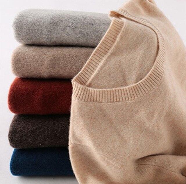 100% Merino Wool Cashmere Sweater Women 2020 Autumn Winter Warm Soft O-Neck Long Sleeve Knitted Pullover Jumper Femme Sweater 1