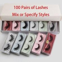 Wholesale Eye Lashes Bulk 10/20/30/50/100 pcs Natural False Eyelashes Set Volume 3d Wispy Fake Lashes Fluffy Mink Lashes Makeup