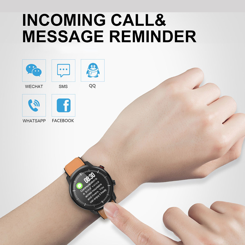 L3 Waterproof Smart Watch with Round Screen Heart Rate Pedometer and Call Message Reminder Smart Activity Tracker for Women Men 2