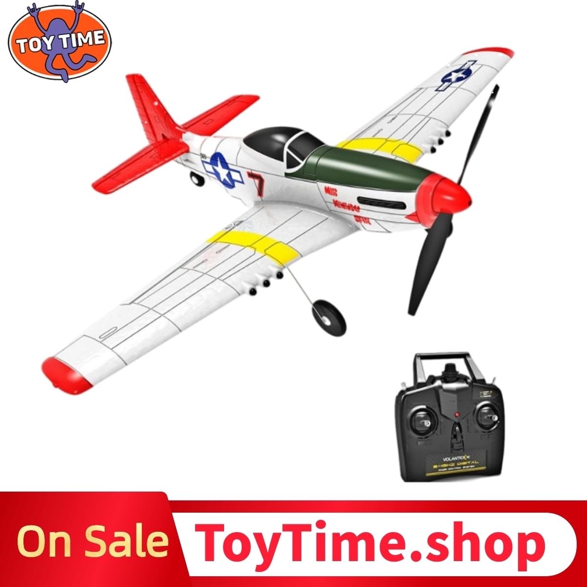 ToyTime 761-5 P51 плоская модель Rc 400Mm размах крыльев 2,4G 6-осевой гироскоп с неподвижным крылом Rtf планер Epp Поролоновый самолета 14 минут беспилотный ...