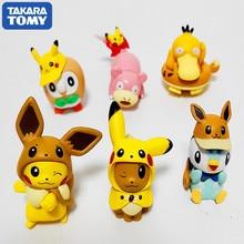 Action-Figure Pikachu Fire-Dragon Genuine-Capsules 6PCS Frog-Seeds Jenny Miao Turtle