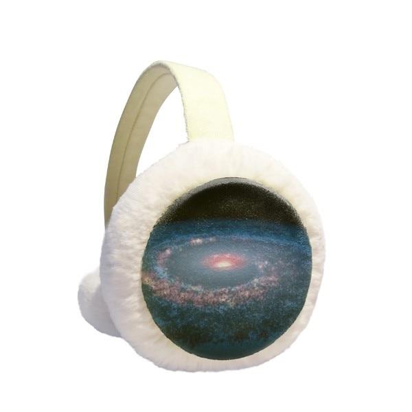 Nebulae White Blue Planet Winter Earmuffs Ear Warmers Faux Fur Foldable Plush Outdoor Gift