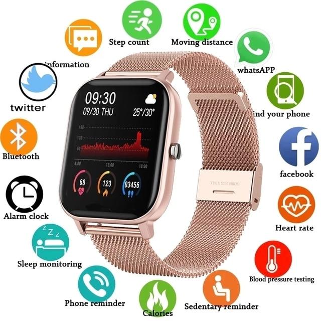 Reloj Digital deportivo para hombre y mujer, pulsera electrónica LED para Android IOS, reloj de Fitness Masculino + caja 1