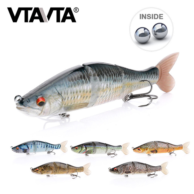 17g 11.5cm 3-Segment Jointed Artificial Bait Sinking Wobblers