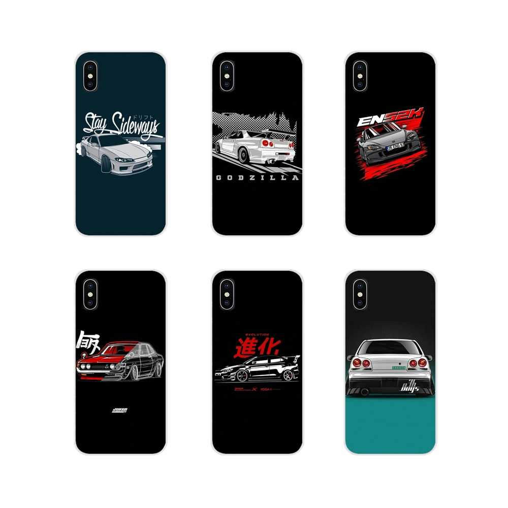 For Huawei G7 G8 P7 P8 P9 P10 P20 P30 Lite Mini Pro P Smart Plus 2017 2018 2019 sports car jdm drift Transparent TPU Shell Cases