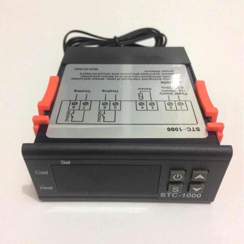 2x STC-1000 AC 10A Digitaler Temperaturregler Thermostat Sensor DC 12V