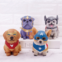 Cartoon Pet Dogs Piggy Bank Children Toys Money Boxes Thor Marvel Money Coin Box Resin Coin Bank Decor Birthday Gifts for Kids popular cartoon cactus piggy bank resin crafts money box home desktop room decorations ornaments for children kids