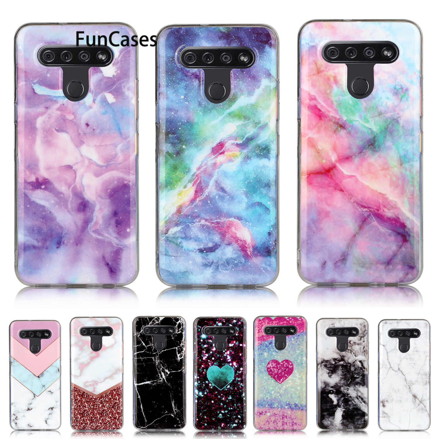 Colorful Heavy Cases For hoesje LG V60 Telephone Accessories Back Cover Soft TPU Shell sFor Fundas LG funda K51 Stylo 6 mobile