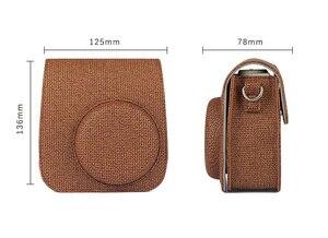 Image 5 - 新しい富士フイルムインスタックスミニカメラケースバッグ Pu レザーカバーとショルダーストラップインスタックスミニ 9 8 8 + インスタントフィルムカメラケース