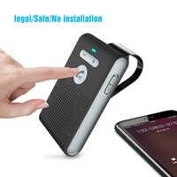 Siparnuo Bluetooth Aux inalámbrico Bluetooth coche Manos Libres Speakerphone Manos Libres Altavoz Bluetooth coche Kit con cargador USB