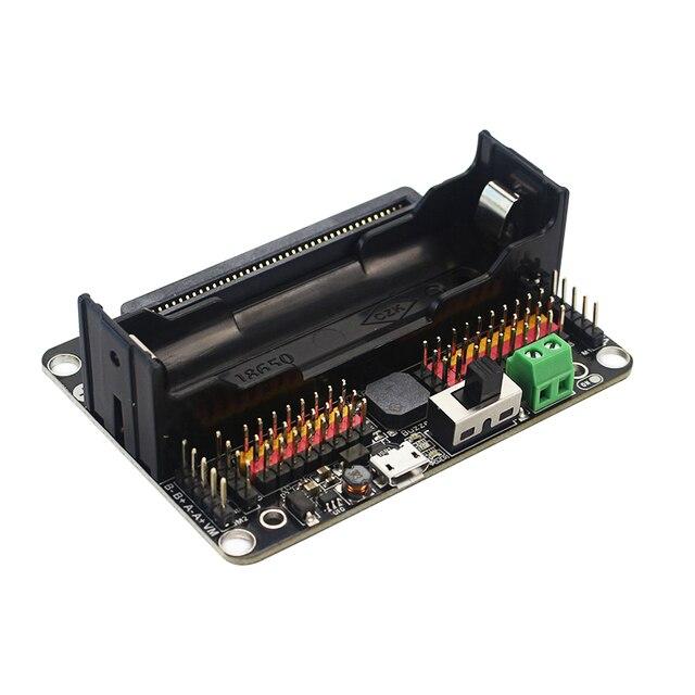 Robot KittenBot: Placa de expansión bit V2.2 para BBC Micro: Placa de extensión bit compatible con batería 18650 para Micro:Bit DIY Robot