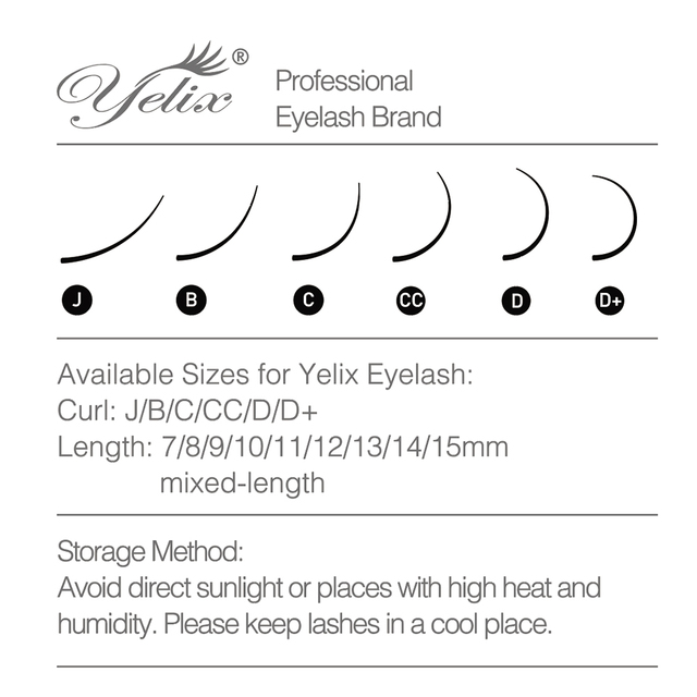 Yelix Mega volume lashes auto Fan individual eyelash extensions Easy fan eyelash Natural Professional eyelashes for building 5