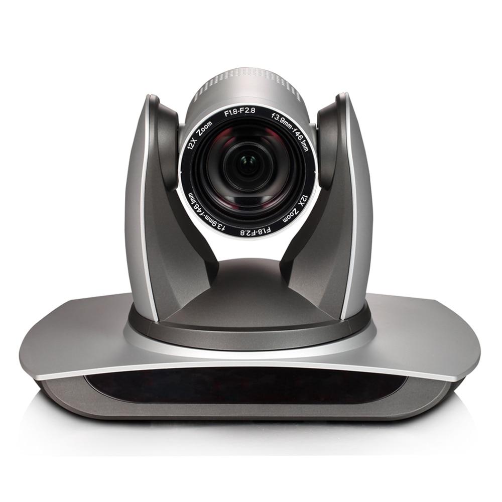 H.265 1080p 60fps 2MP gerçek zamanlı 12X Zoom HD PTZ Video konferans kamerası Onvif RTSP ile USB2.0/USB3.0/HDMI/LAN IP/RS232