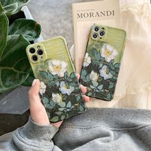 Creative Flower Pattern Phone Case for iPhone 11 12pro 12mini Silicone Soft Shell for iPhone 8 XS 7/8Plus Phone Cover Anti-fall