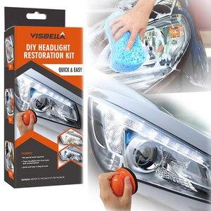 Image 2 - Headlight Polisher For Car Lenses Chemical Polish For Headlights Restoration Polymer Liquid Car Care Polishing Kit Headlamps Wax