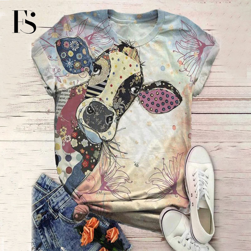 Women Cartoon Donkey Printed T shirt Short Sleeve Animal Print T shirt O neck Casual Tops Tee Women 2020 T-Shirts  - AliExpress