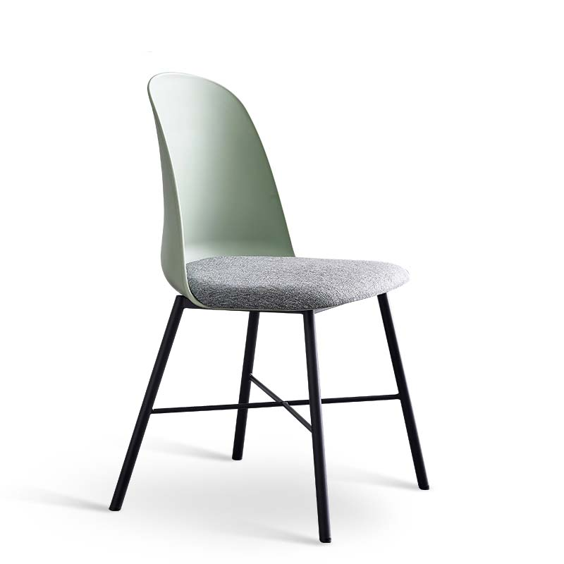 Modern Simple Iron Art Dining Chair Home Back  White Nordic Net Red Ins Bedroom Desk  Industrial Style
